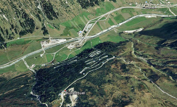 hairpin turns in Switzerland
