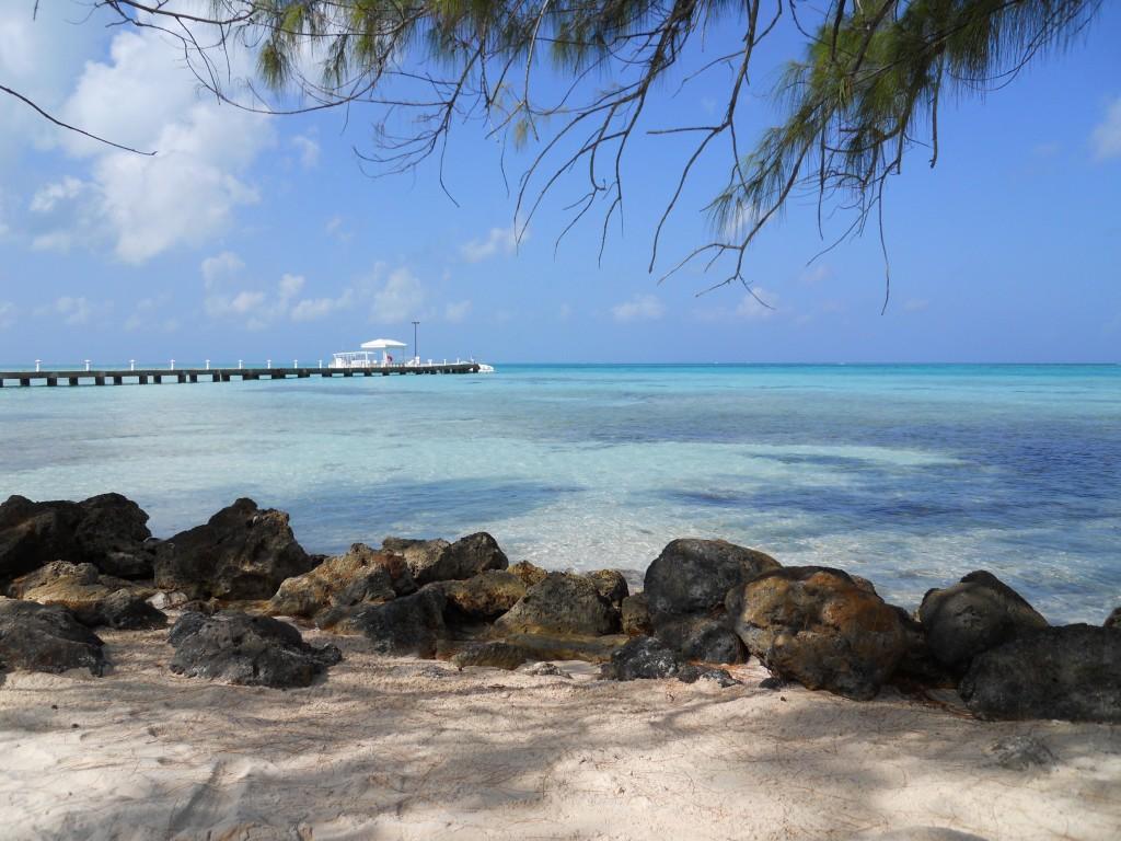 Rum Point beach view