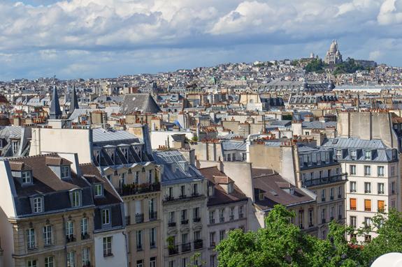 Paris view of city
