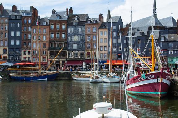 Honfleur port view