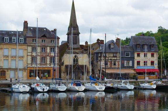 Honfleur sailboats