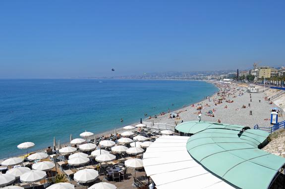 private beach on the Riviera