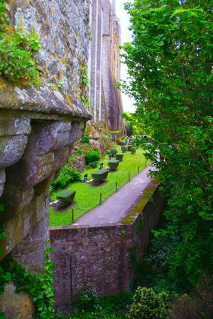 Mont Saint-Michel garden.