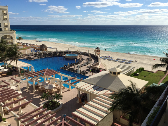 Cancun beach from hotel