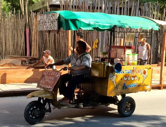 Tulum ice cream truck.