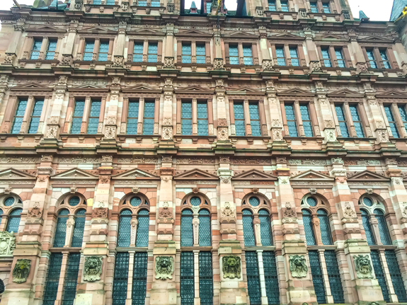 Heidelberg Castle wall.