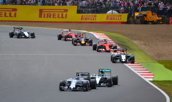 British Grand Prix race view