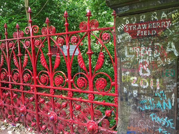 Strawberry Fields gate and sign