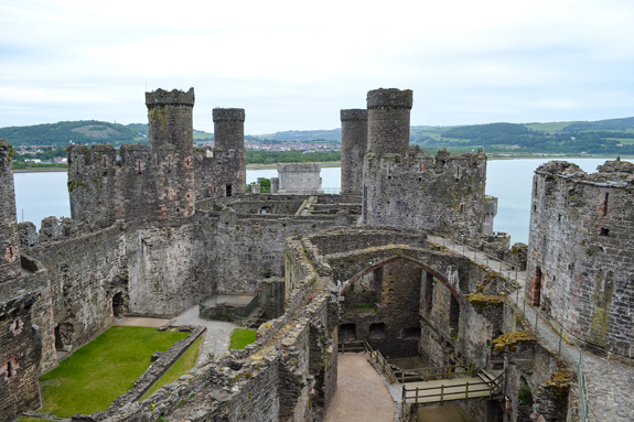 Conwy Castle inside view