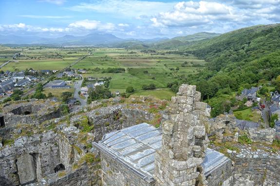 Harlech Castle view.