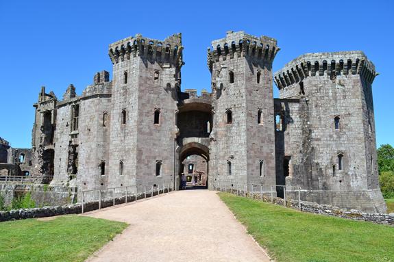 Raglan Castle entrance.