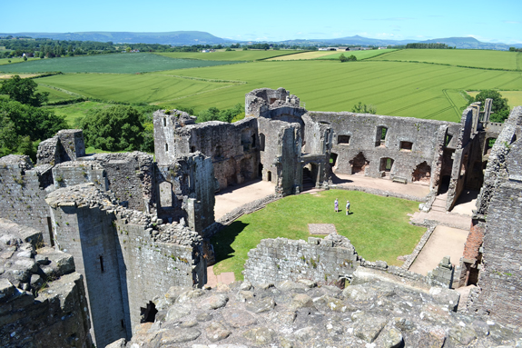 Raglan Castle tower view