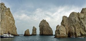 Cabo land's end rocks boat view