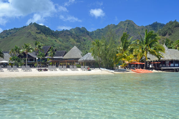 Intercontinental Moorea beach view